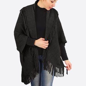 Black Chenille Vest/Shrug